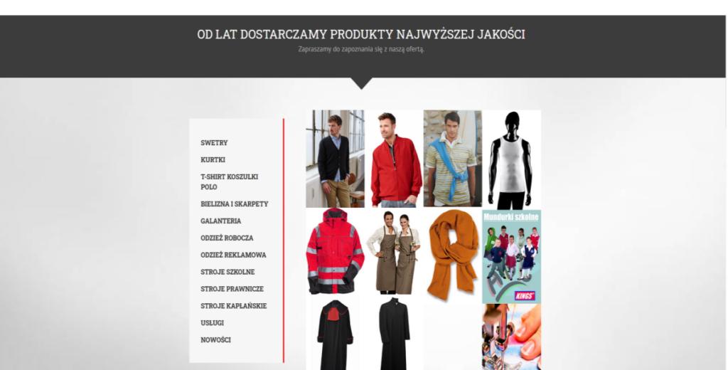 Spółka Kings - oferta odzieży